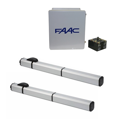 Faac s h hydraulic v swing gate opener dual kit