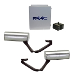 FAAC 390 Basic Double Gate Operator Kit- Includes (2) 24VDC Operators, E024U  Control Panel, 14x16 in. Enclosure, Transformer Batteries (2), and 2 Limit Switches.
