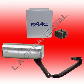 FAAC 390 Operator Only - Use  to make single unit into Master/Slave (Bi-Parting) Kit or use to order replacement operator. Order necessary five wire cable and 2 limit switches.