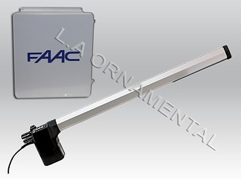 FAAC 412 SX Gate Operator and Cover for Single Leaf Left Hinged Gate