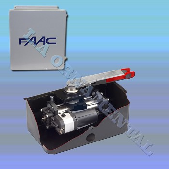 FAAC S800H Inground (100 Degree)Hydraulic 24V Swing Gate Operator Dual Kit Includes  ( Stainless Steel ): 2 - S800H, Support Box, E024U Control Board, 14x16 Enclosure, 2 - Steel Load Bearing Box, Power Supply, Manual Release, Batteries, Splined Shaft