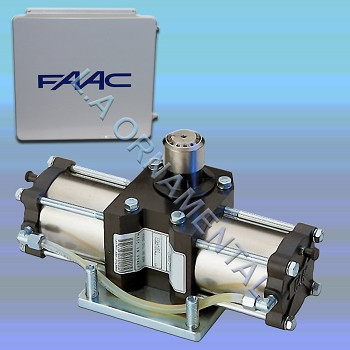 "FAAC 750 Single In-Ground Hydraulic Operator Kit - Includes Hydraulic Pump Enclosure, 455D Control Panel with 14""x16"" Pre-Wired Enclosure, Drive Unit with metal enclosure and top"